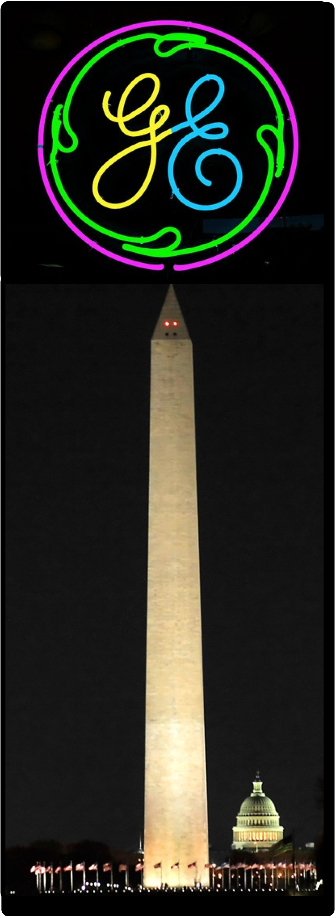 April Fools GE Washington Monument logo