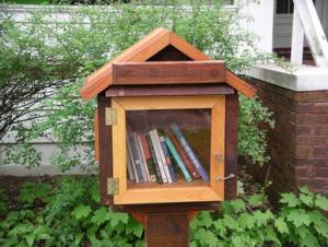 Closeup of a little library