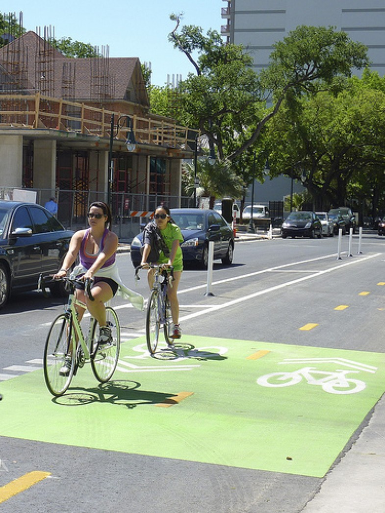 Greening Of Southwest Bike Path >> Green Lanes Bring Bicycling Into The 21st Century On The Commons